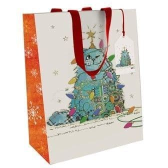 Kooks Xmas Gift Bag Cat Medium